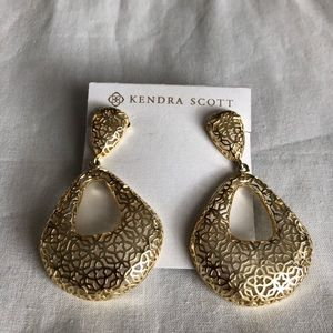 Kendra Scott gold earrings